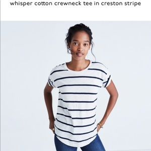 NWOT Madewell whisper cotton crewneck tee